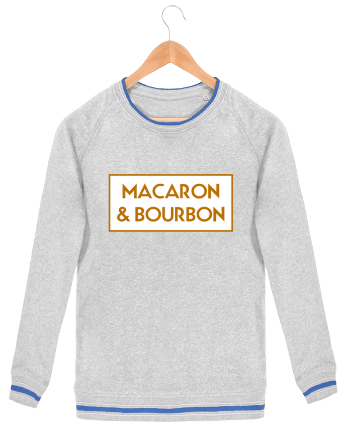 Sweatshirt crew neck Men Stanley Strolls Tipped Macaron et bourbon by tunetoo
