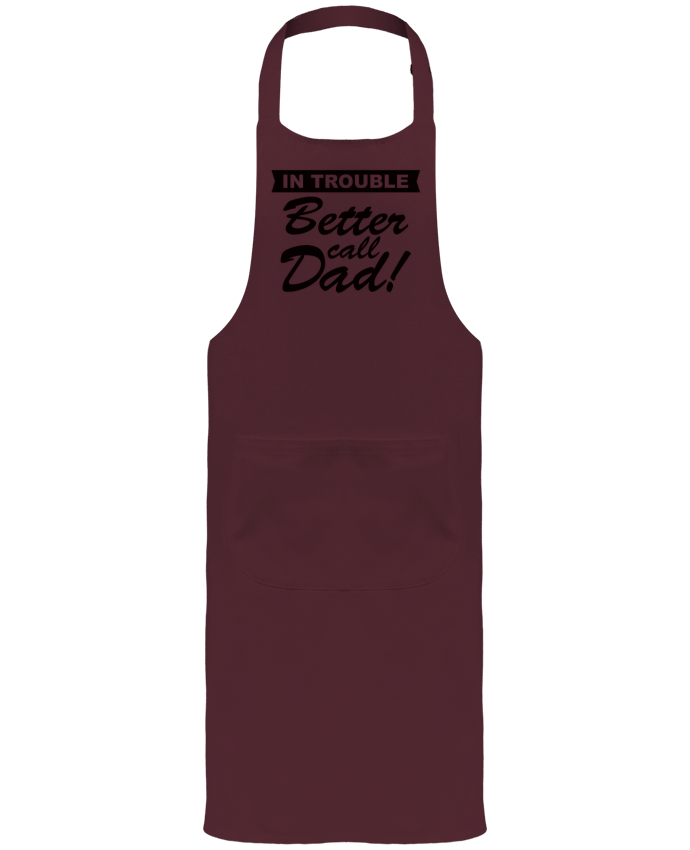 Garden or Sommelier Apron with Pocket Better call dad by Freeyourshirt.com