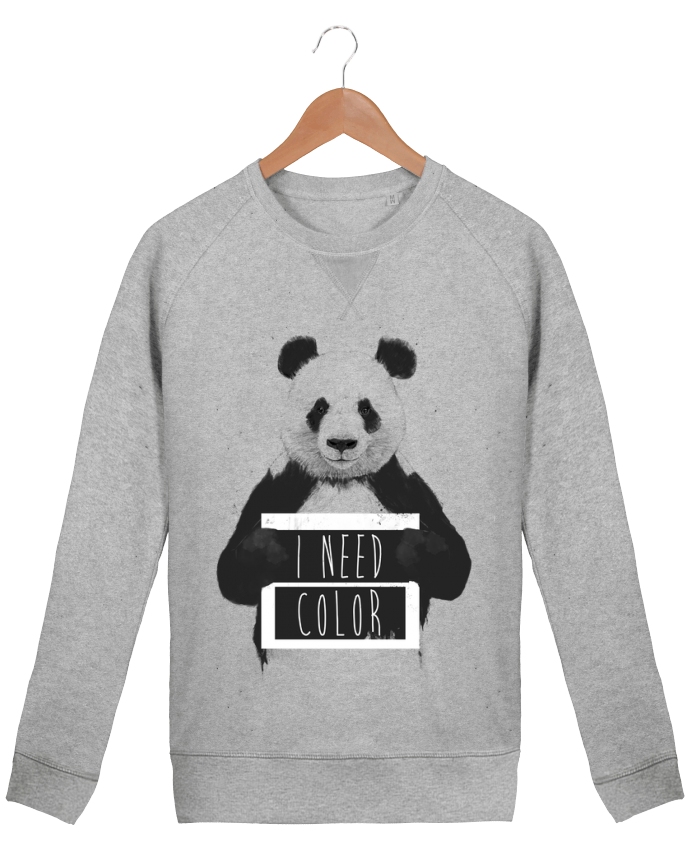 sweatshirt Men crew neck Stanley Strolls I need color by Balàzs Solti