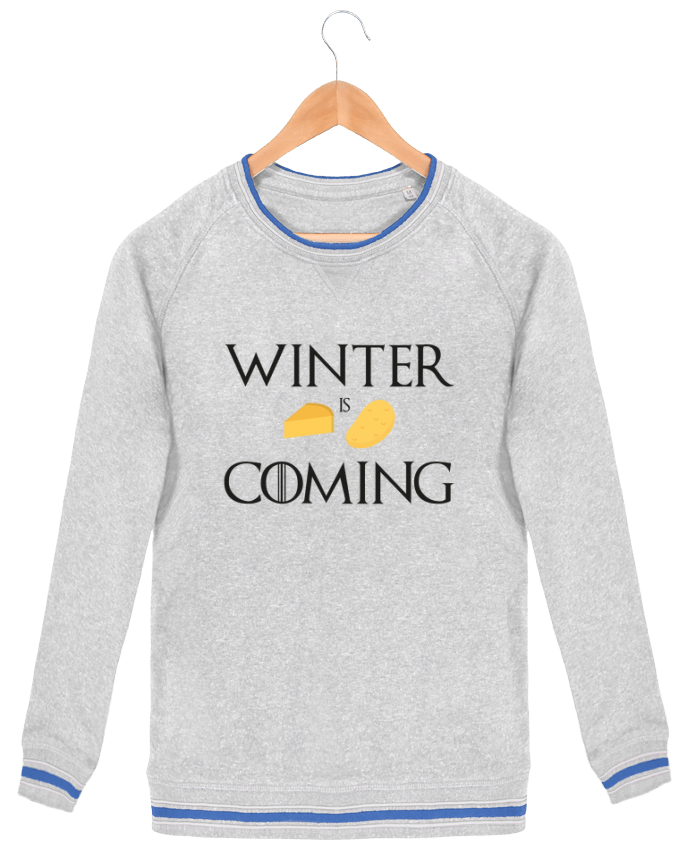 Sweatshirt crew neck Men Stanley Strolls Tipped Winter is coming by Ruuud