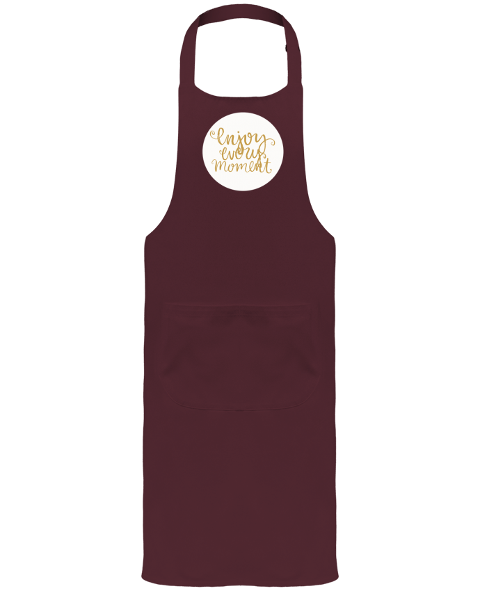 Garden or Sommelier Apron with Pocket Enjoy every moment by Les Caprices de Filles