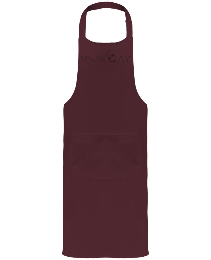 Garden or Sommelier Apron with Pocket Monday by Ruuud