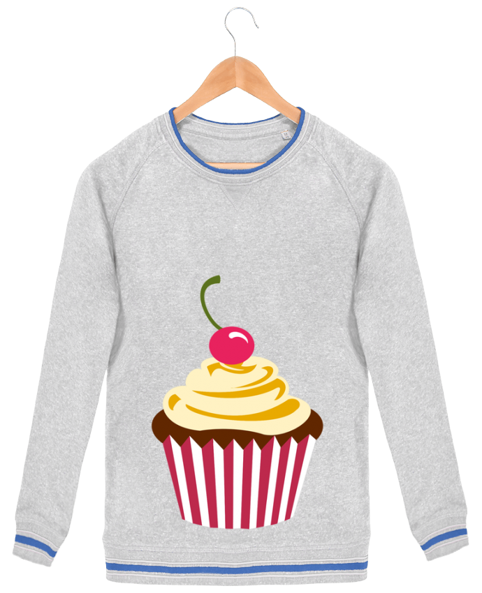Sweatshirt crew neck Men Stanley Strolls Tipped Cupcake by Crazy-Patisserie.com