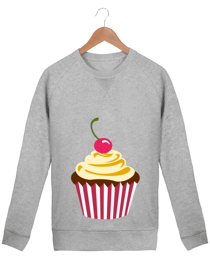 Sweatshirt Men crew neck Stanley Strolls Cupcake by Crazy-Patisserie.com