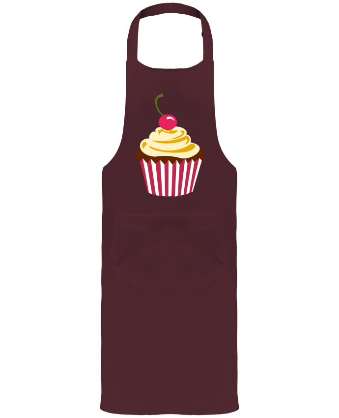 Garden or Sommelier Apron with Pocket Cupcake by Crazy-Patisserie.com