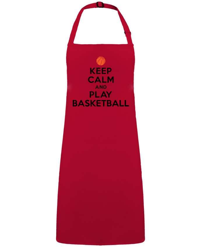 Apron no Pocket Keep Calm And Play Basketball by  Freeyourshirt.com