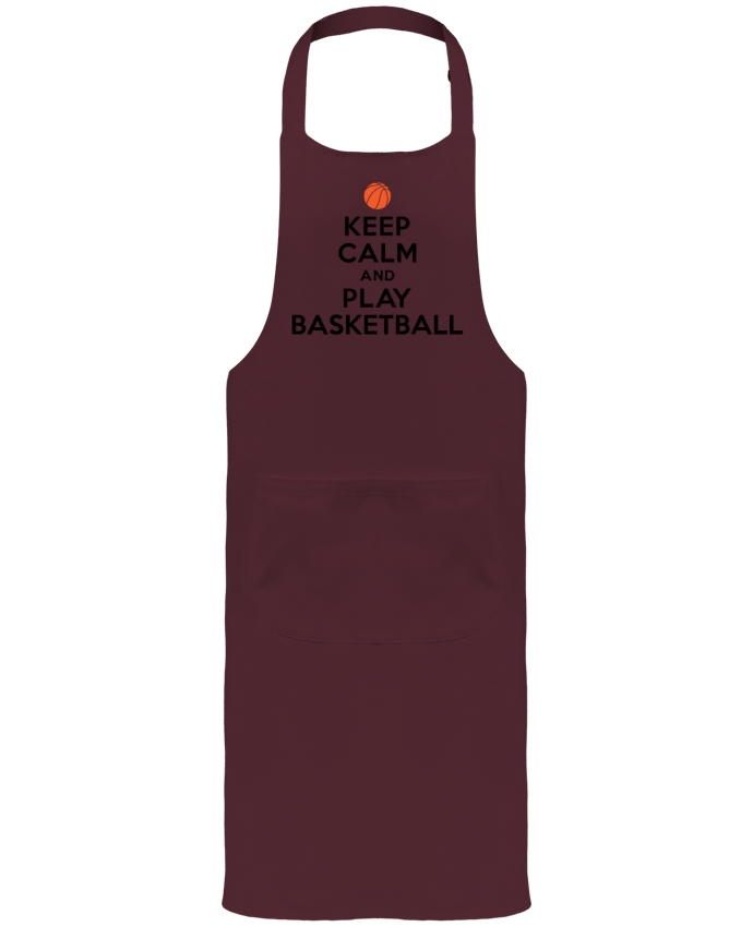 Garden or Sommelier Apron with Pocket Keep Calm And Play Basketball by Freeyourshirt.com