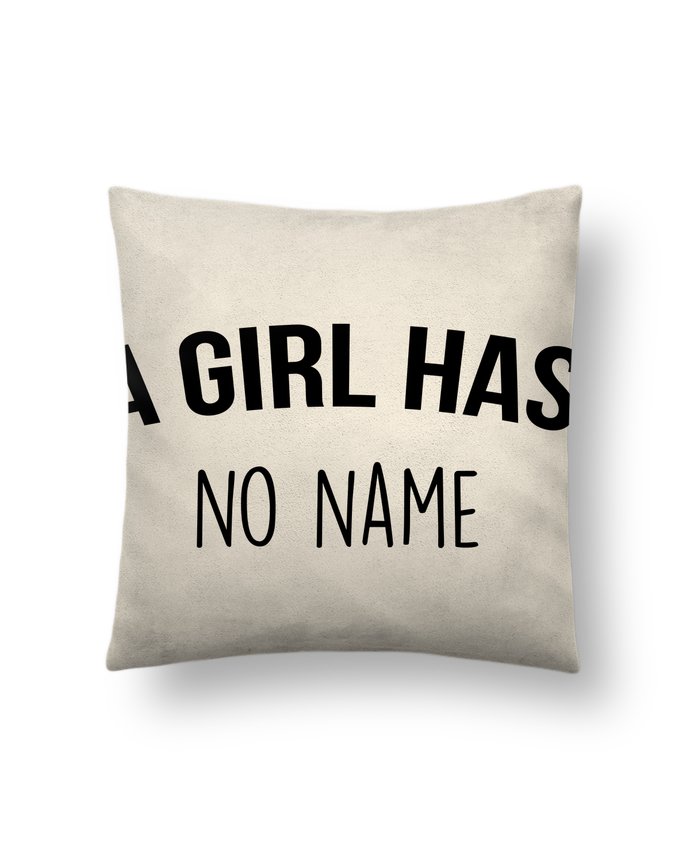 Cushion suede touch 45 x 45 cm A girl has no name by Bichette
