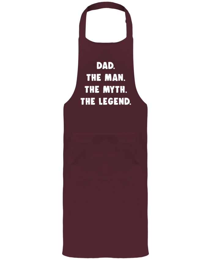 Garden or Sommelier Apron with Pocket Dad the man, the myth, the legend by Bichette