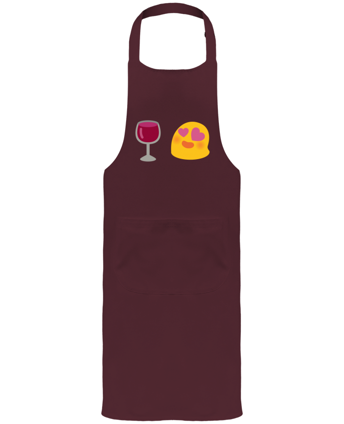 Garden or Sommelier Apron with Pocket Love wine by Bichette