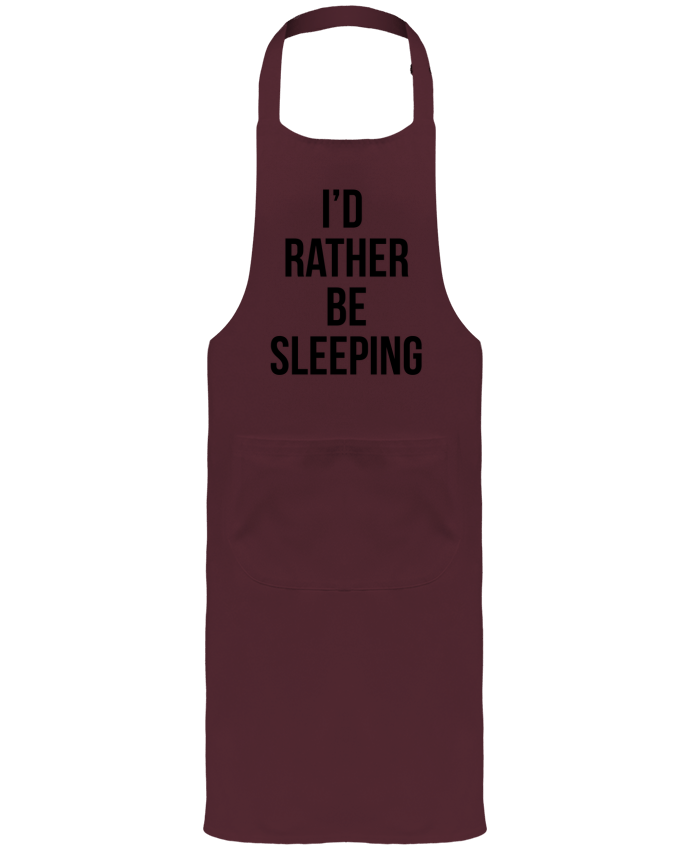 Garden or Sommelier Apron with Pocket I'd rather be sleeping by Bichette