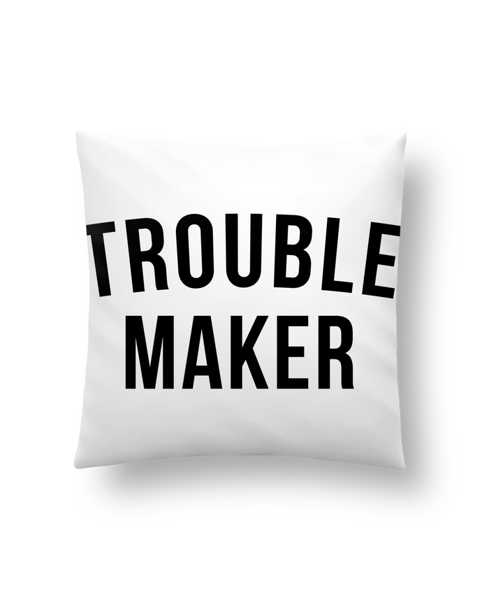Cushion synthetic soft 45 x 45 cm Trouble maker by Bichette