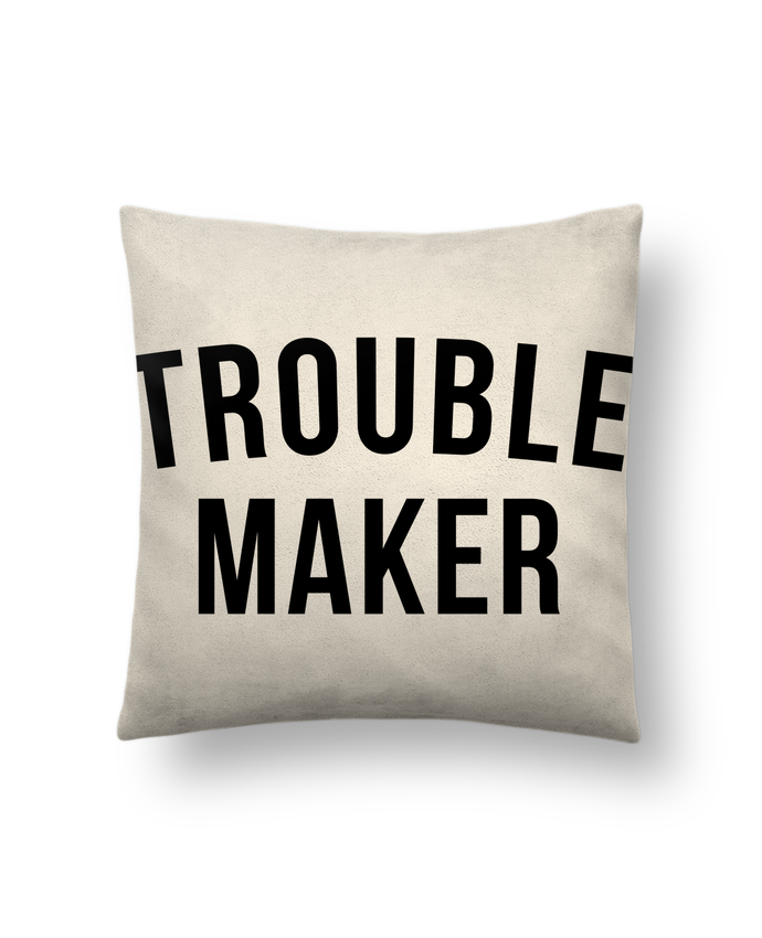 Cushion suede touch 45 x 45 cm Trouble maker by Bichette