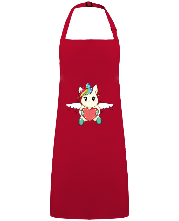Apron no Pocket Licorne Love by  CBM-Boutique
