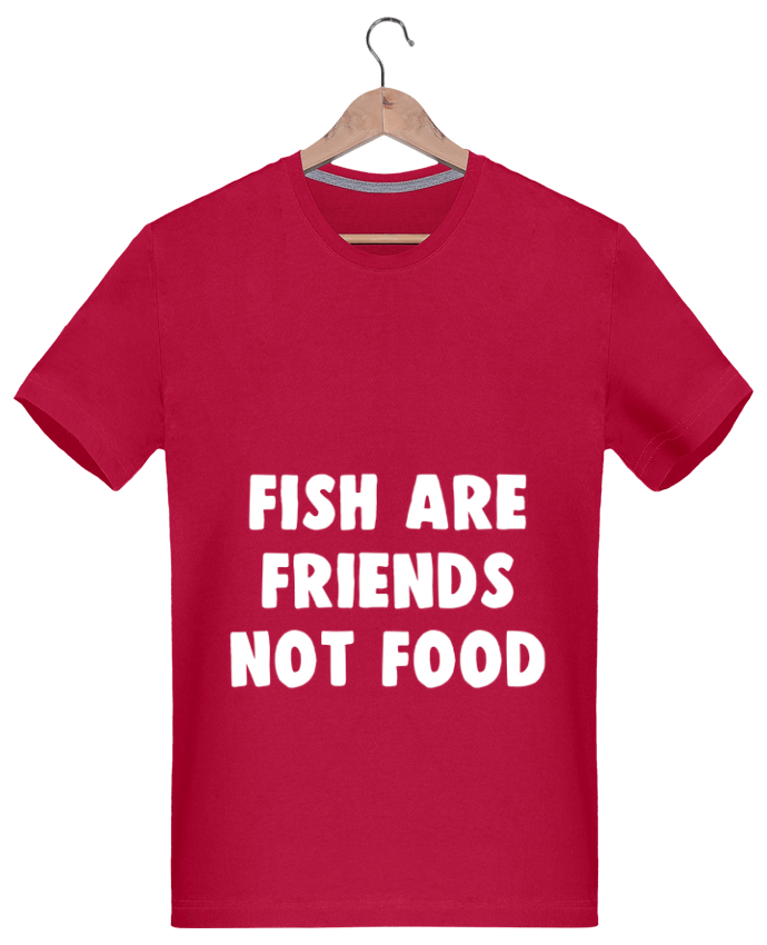 T-Shirt Men 180g Fish are firends not food by Bichette