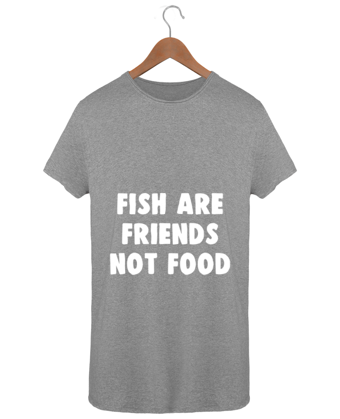 T-shirt Men Oversized Stanley Skates Fish are firends not food by Bichette