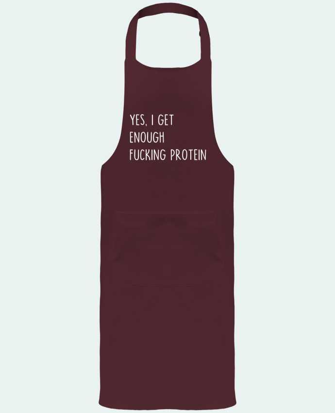 Garden or Sommelier Apron with Pocket Yes, I get enough fucking protein by Bichette