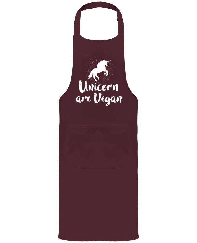 Garden or Sommelier Apron with Pocket Unicorn are vegan by Bichette