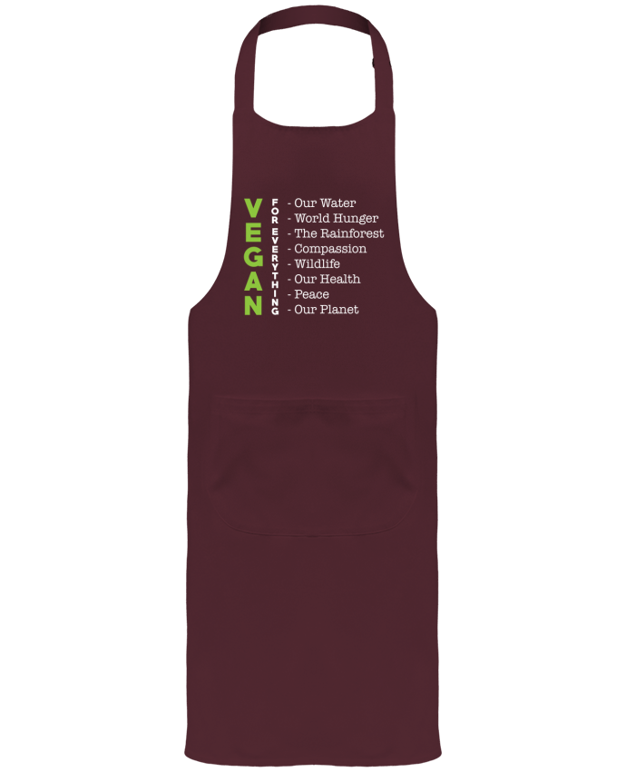 Garden or Sommelier Apron with Pocket Vegan for everything by Bichette