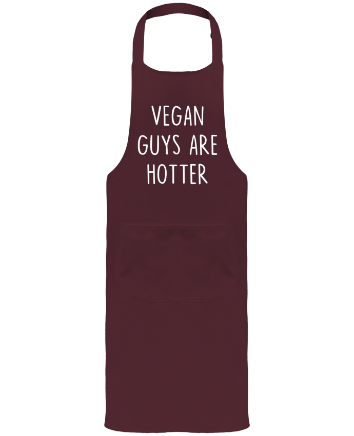 Garden or Sommelier Apron with Pocket Vegan guys are hotter by Bichette