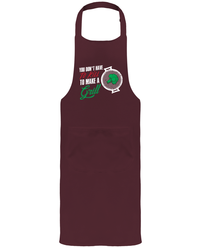 Garden or Sommelier Apron with Pocket You don't have to kill to make a grill by Bichette