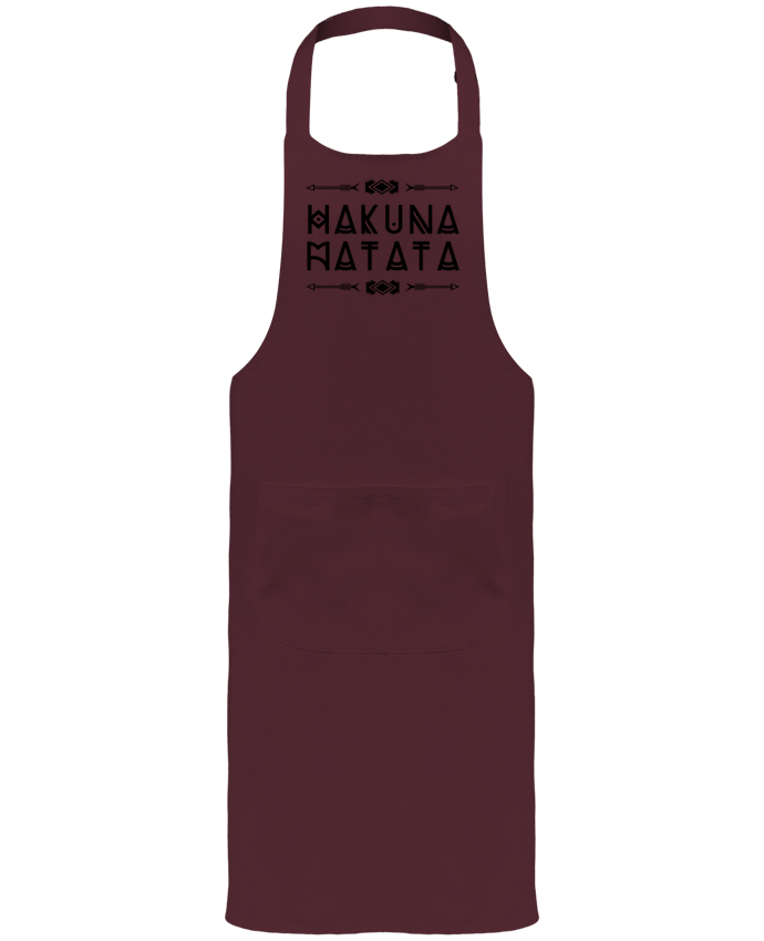 Garden or Sommelier Apron with Pocket hakuna matata by DesignMe