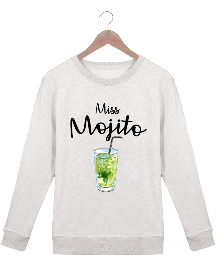 Sweatshirt Women crew neck Stella Hides Miss Mojito by FRENCHUP-MAYO