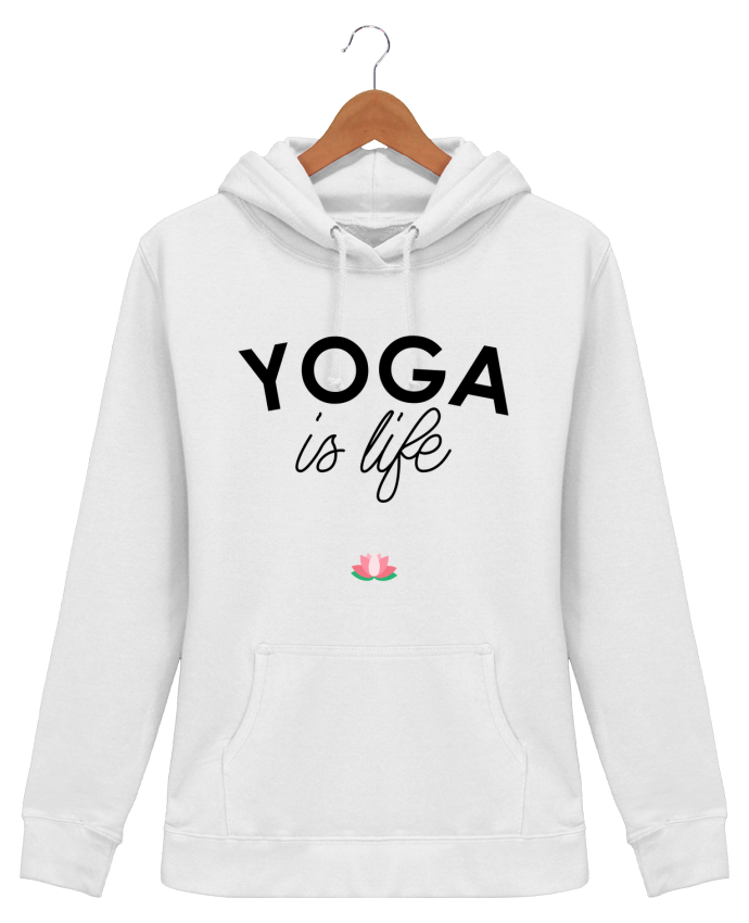 Hoodie Women Yoga is life - tunetoo