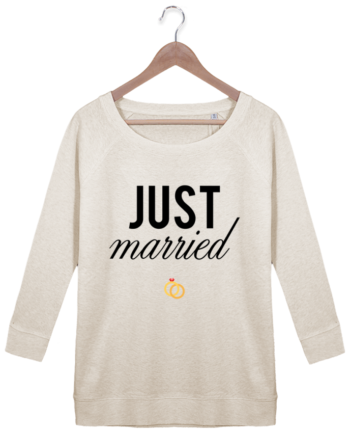 Sweatshirt Women 3/4 sleeve Stella Amazes Tencel Just married by tunetoo