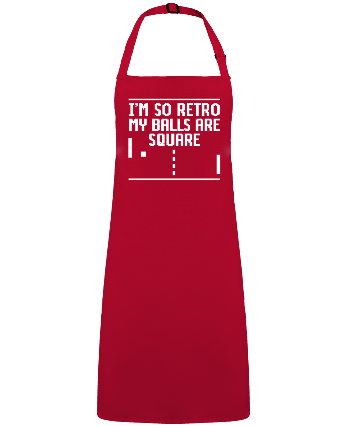 Apron no Pocket I'm so retro my balls are square by  LaundryFactory