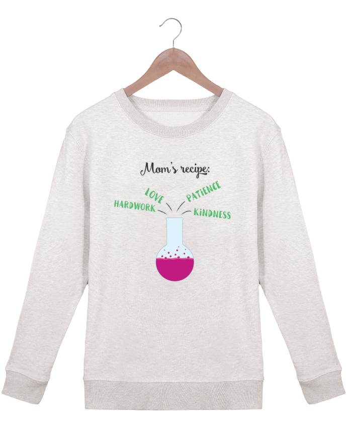 Sweatshirt Women crew neck Stella Hides Mom's recipe by tunetoo