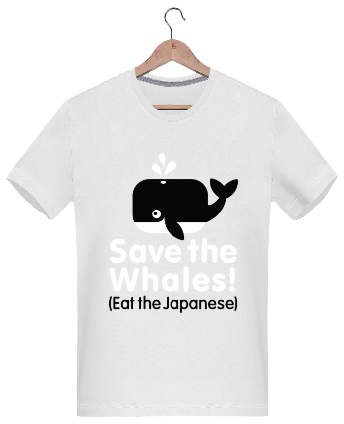 T-Shirt Men 180g SAVE THE WHALES EAT THE JAPANESE by LaundryFactory