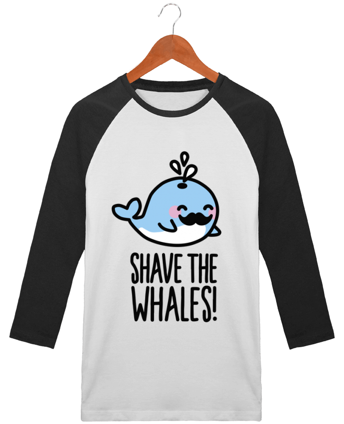 T-shirt Baseball crew-neck unisex stanley stella SHAVE THE WHALES by LaundryFactory