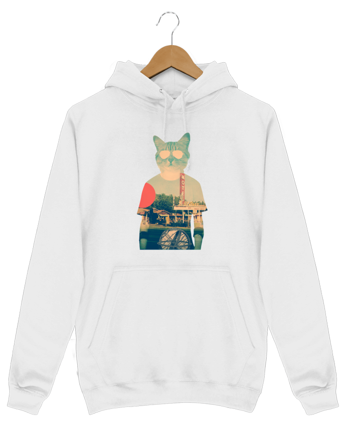 Hoodie Men Cool cat by ali_gulec