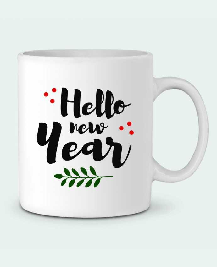 Ceramic Mug Hello New Year by tunetoo
