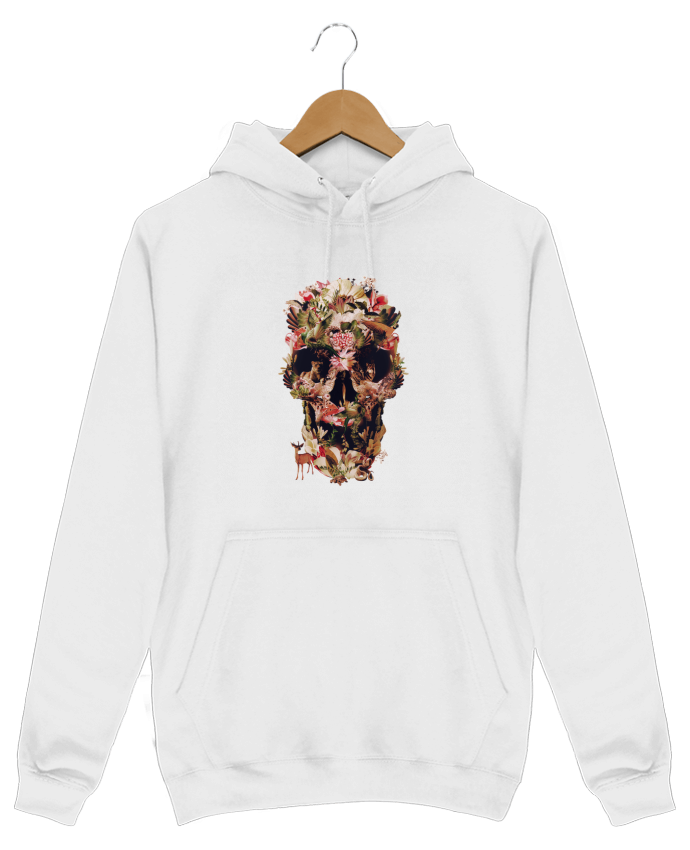Hoodie Men Jungle Skull by ali_gulec