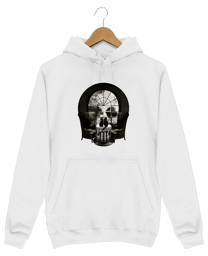 Hoodie Men Room skull by ali_gulec