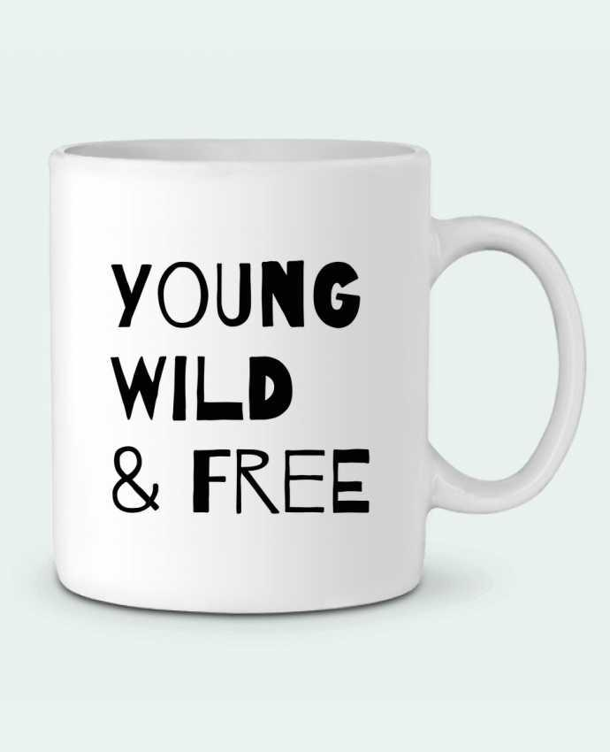 Ceramic Mug YOUNG, WILD, FREE by tunetoo