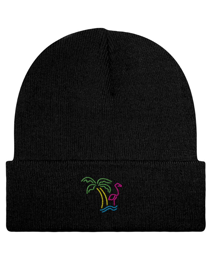 Reversible Beanie Island Flamingo by tunetoo