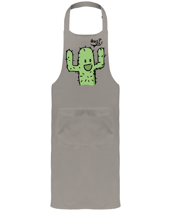 Garden or Sommelier Apron with Pocket cactus calin gratuit by Tête Au Carré