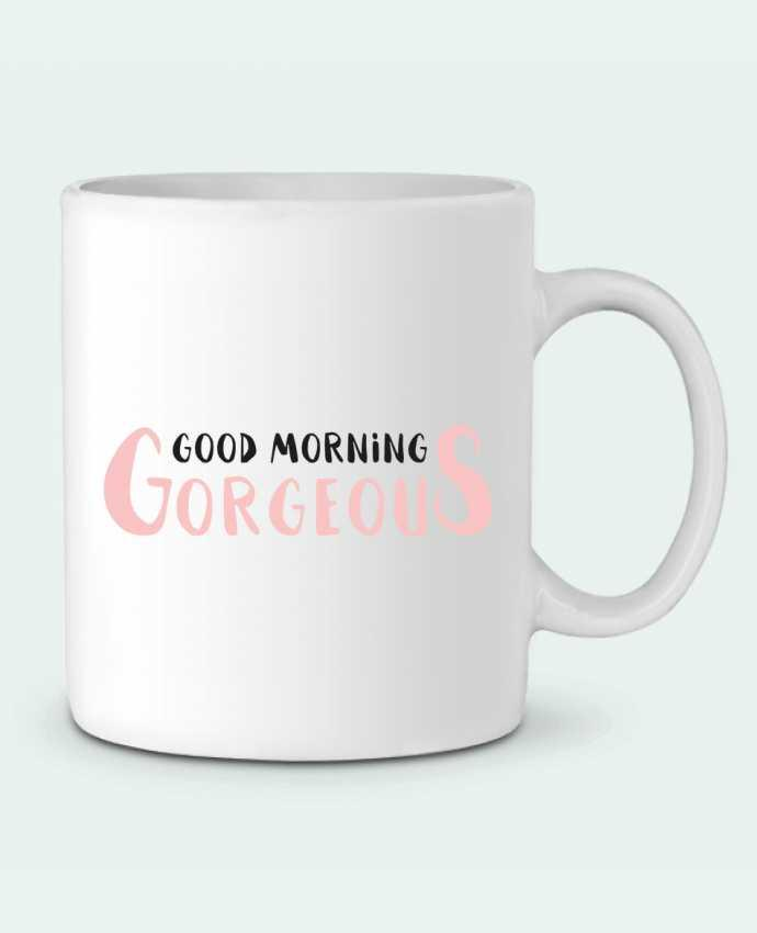 Ceramic Mug Good morning gorgeous by tunetoo