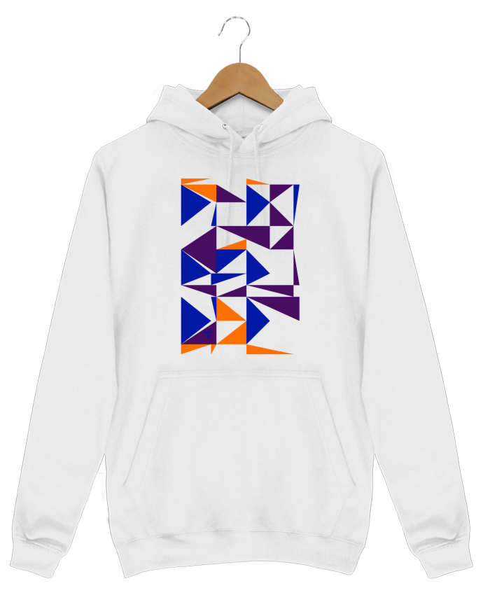 Hoodie Men Trio de triangles by Chez-Alice