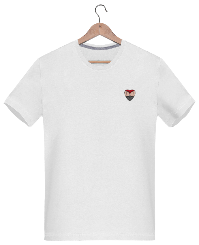 T-shirt Homme Brodé Doggy Style Coeur by tunetoo