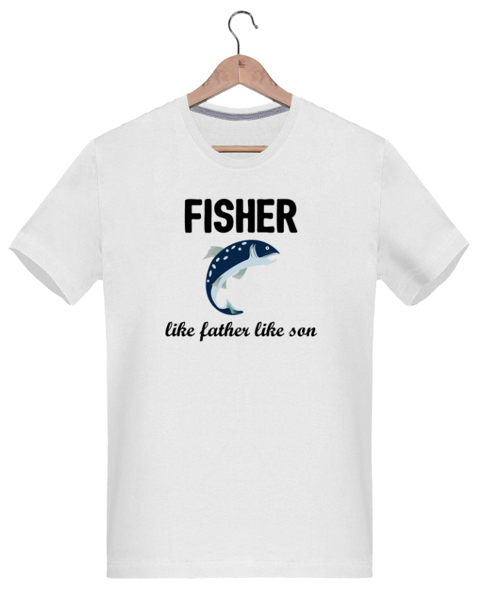 T-Shirt Men 180g Fisher Like father like son by tunetoo