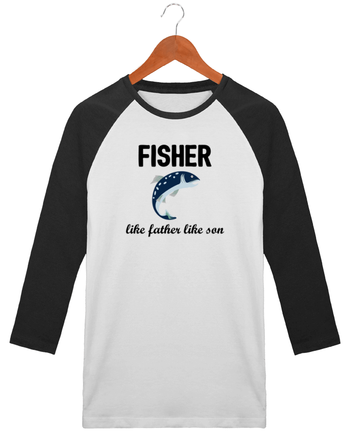 T-shirt Baseball crew-neck unisex stanley stella Fisher Like father like son by tunetoo