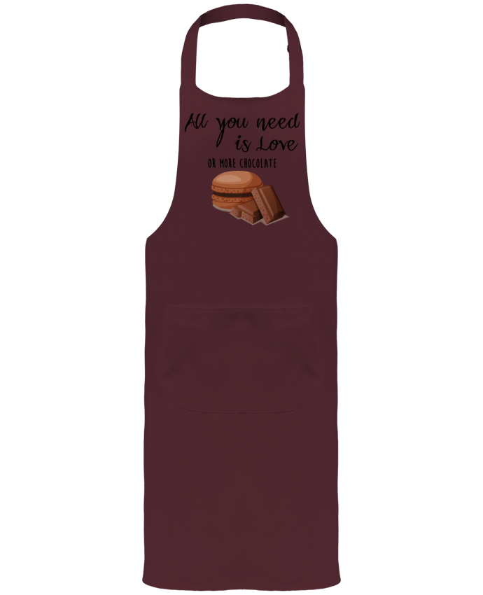 Garden or Sommelier Apron with Pocket all you need is love ...or more chocolate by DesignMe