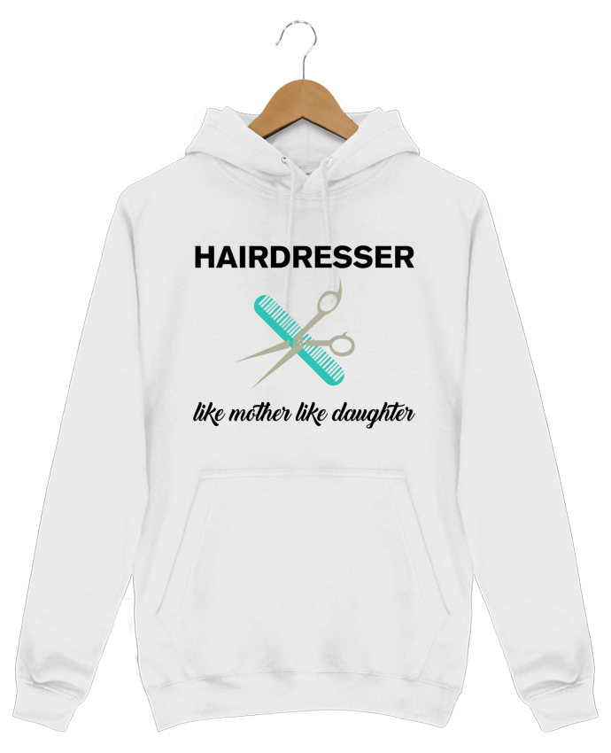 Hoodie Men Hairdresser like mother like daughter by tunetoo