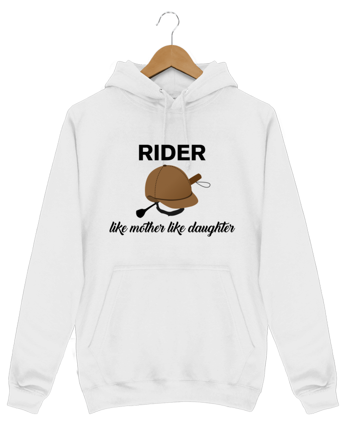 Hoodie Men Rider like mother like daughter by tunetoo