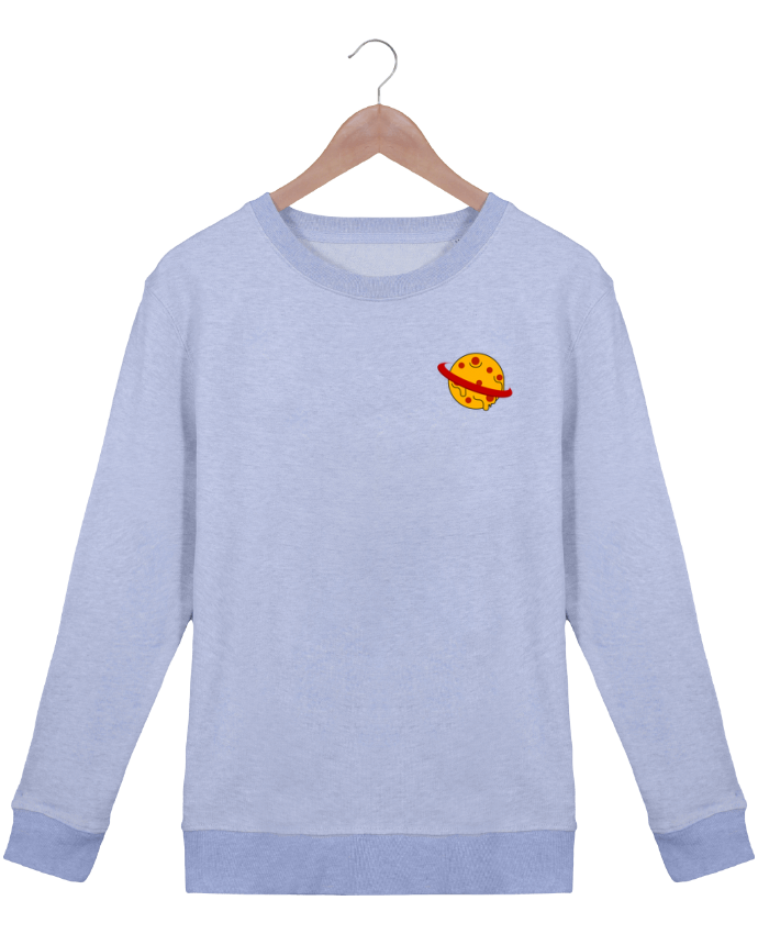 Sweatshirt Women crew neck Stella Hides Planète Pizza by WBang
