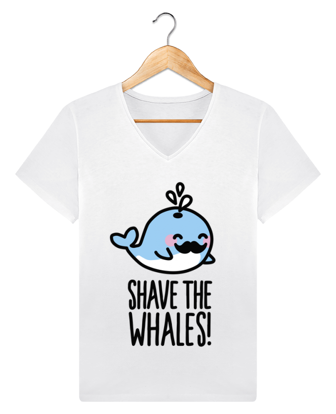 T-shirt V-neck Men Stanley Relaxes SHAVE THE WHALES by LaundryFactory
